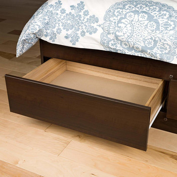 Twin XL Mate's Platform Storage Bed with 3 Drawers, Espresso