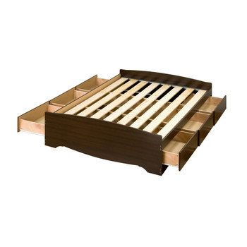 Full Mate's Platform Storage Bed with 6 Drawers, Espresso