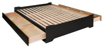 Coal Harbor Full Mate's Platform Storage Bed with 6 Drawers, Black
