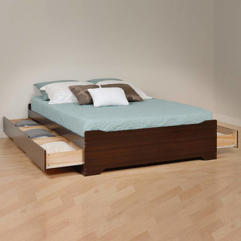 Coal Harbor Full Mate's Platform Storage Bed with 6 Drawers, Espresso