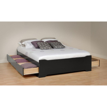 Coal Harbor Queen Mate's Platform Storage Bed with 6 Drawers, Black