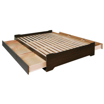 Coal Harbor Queen Mate's Platform Storage Bed with 6 Drawers, Espresso