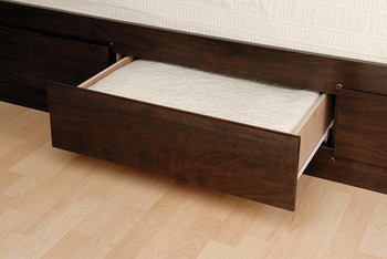 Tall Queen Captain's Platform Storage Bed with 12 Drawers, Espresso