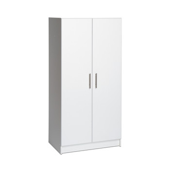 "Elite 32"" Wardrobe Cabinet, White"