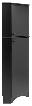 Elite Tall 2-Door Corner Storage Cabinet, Black