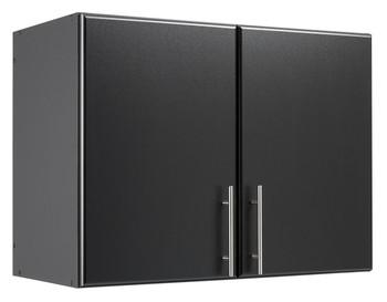 "Elite 32"" Stackable Wall Cabinet, Black"