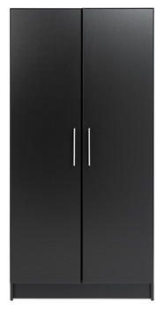 "Elite 32"" Wardrobe Cabinet, Black"
