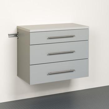 HangUps 3-Drawer Base Storage Cabinet, Light Gray