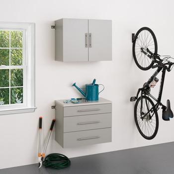 "HangUps 30"" Storage Cabinet Set A - 2pc, Light Gray"