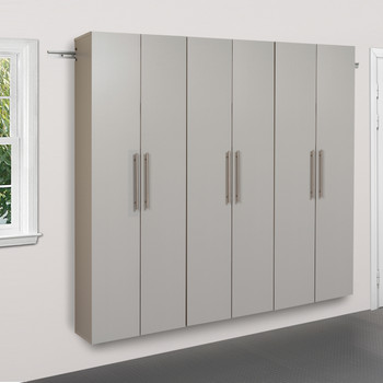 "HangUps 72"" Storage Cabinet Set C - 3pc, Light Gray"