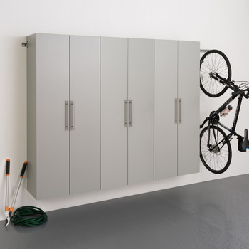 "HangUps 90"" Storage Cabinet Set D - 3pc, Light Gray"