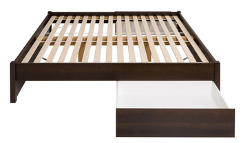 King Select 4-Post Platform Bed with 2 Drawers, Espresso