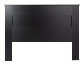 Queen Flat Panel Headboard, Black