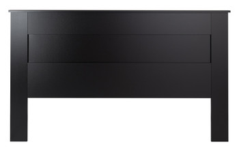 King Flat Panel Headboard, Black