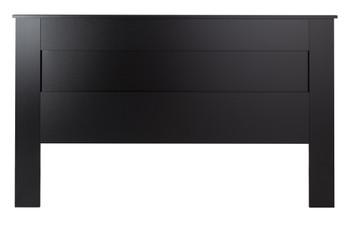 King Flat Panel Headboard, Black