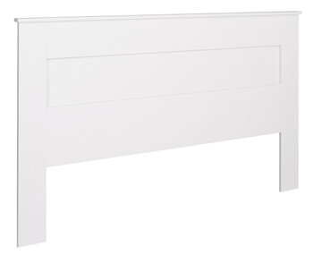 King Flat Panel Headboard, White
