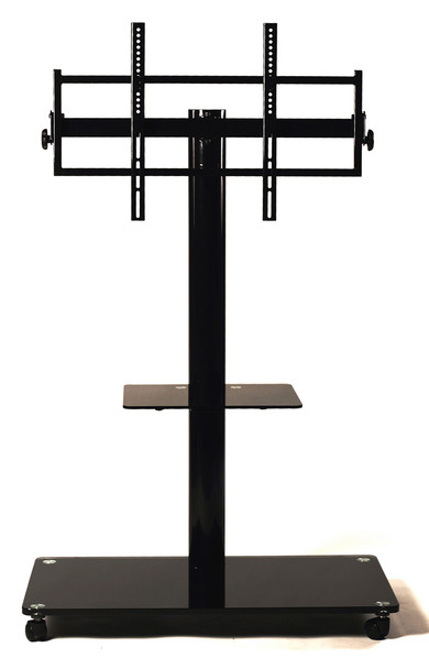 "TV Stand with Universal Mount and Caster for 35""-65"" LCD/LED TV Black"
