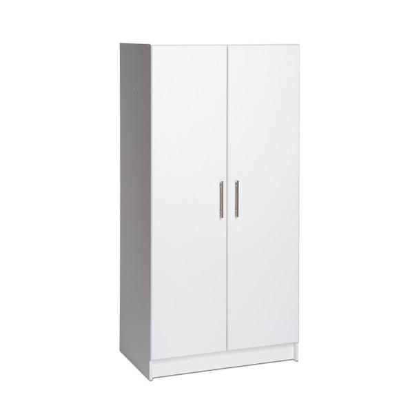 "Elite 32"" Wardrobe Cabinet, White"