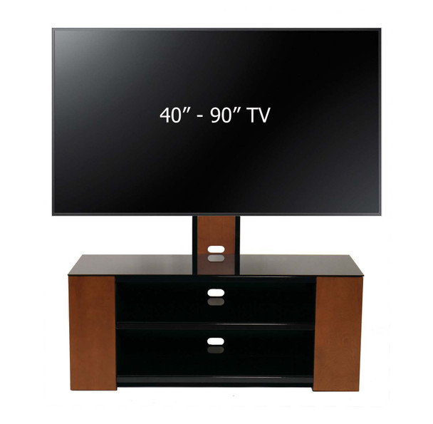 "Versatile TV Stand with Mount and Multimedia Storage Cabinet for Up to 90"" TV"