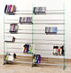 Clear Glass Multimedia CD/DVD Rack for 792 CD 552 DVD