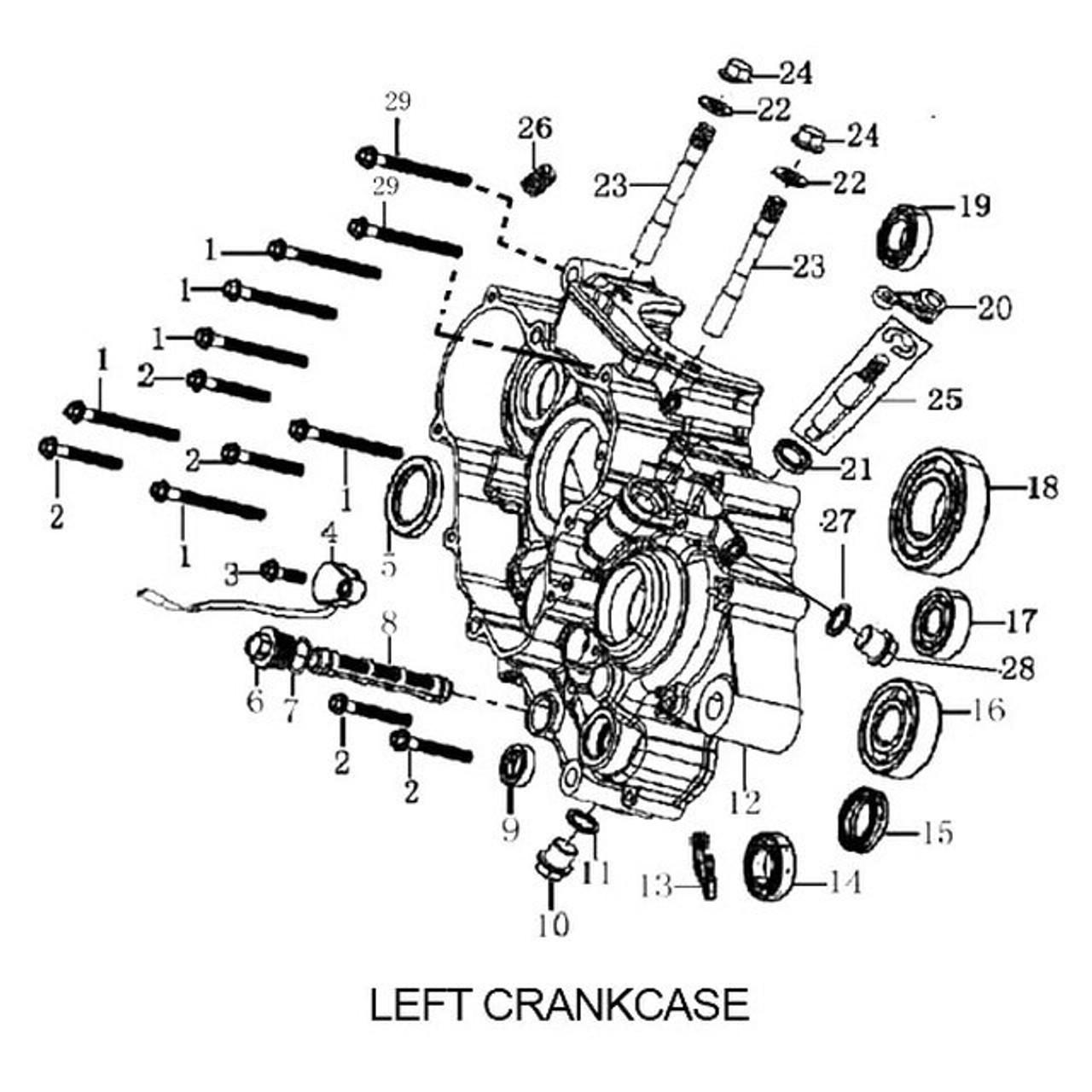 ENGINE CRANKCASE, LEFT