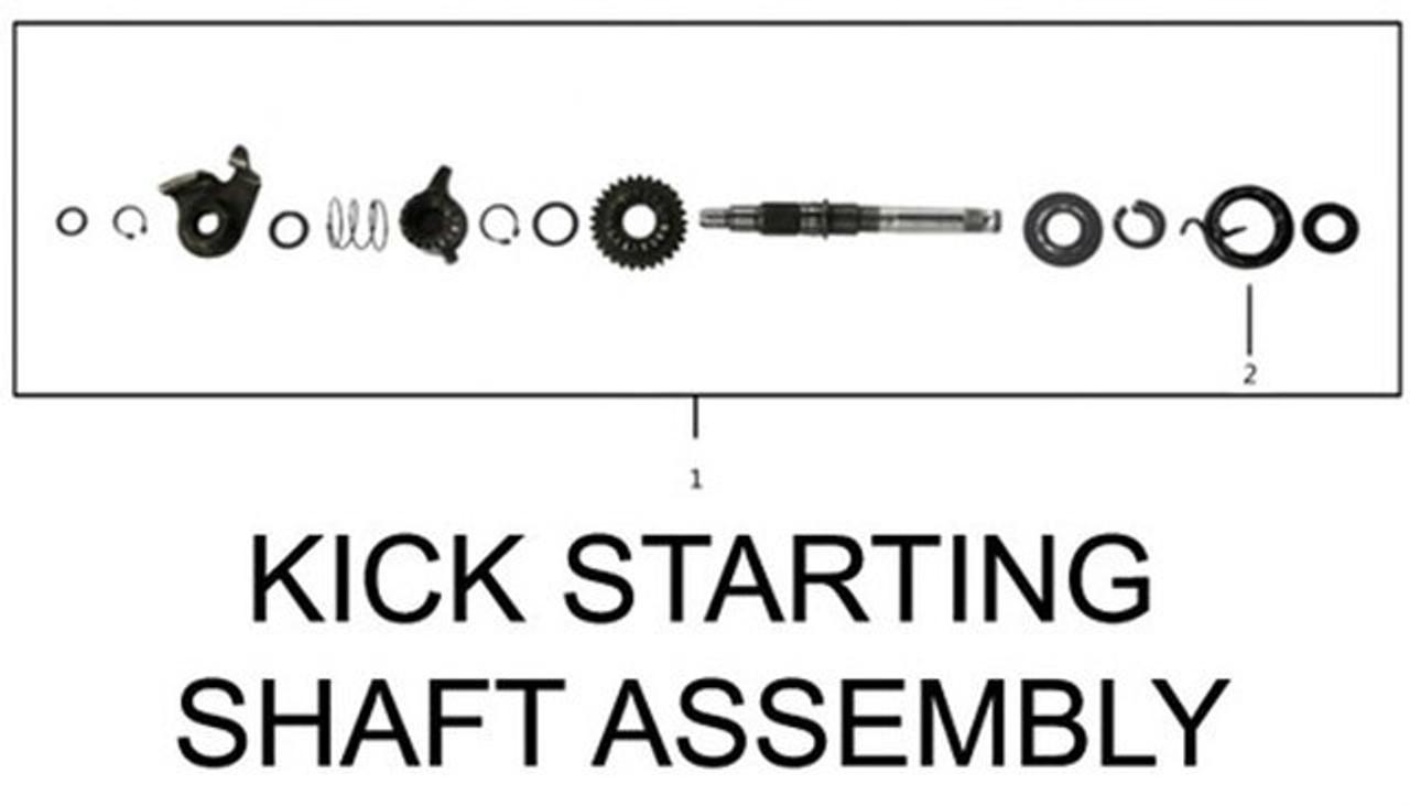 ENGINE KICK STARTING SHAFT