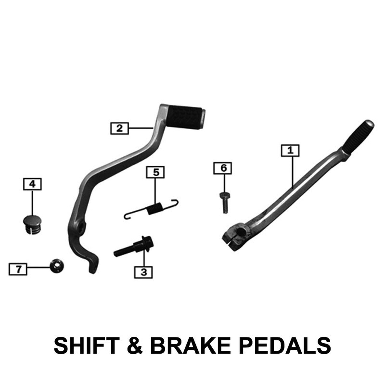 LEVERS, SHIFT AND BRAKE