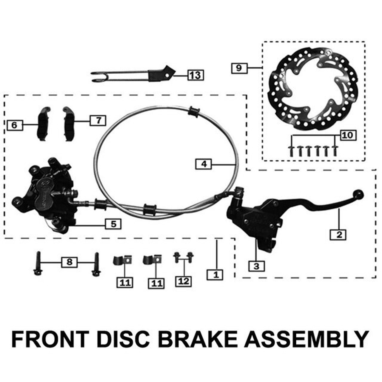 BRAKES, FRONT, 2015-2017