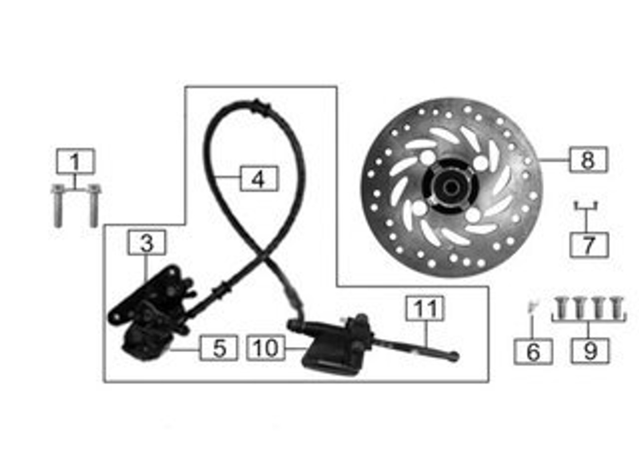 REAR DISC BRAKE ASSEMBLY