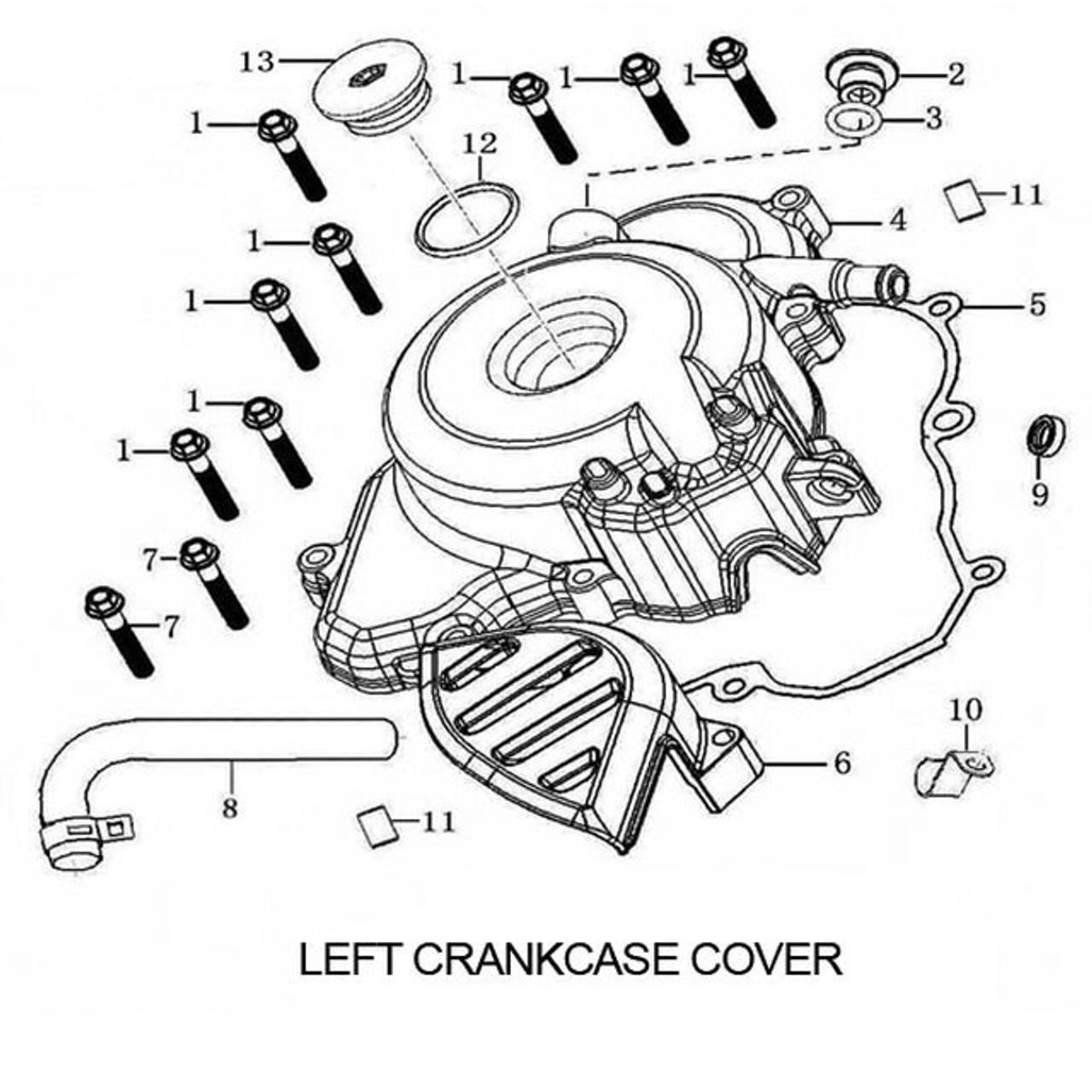 ENGINE CRANKCASE COVER, LEFT