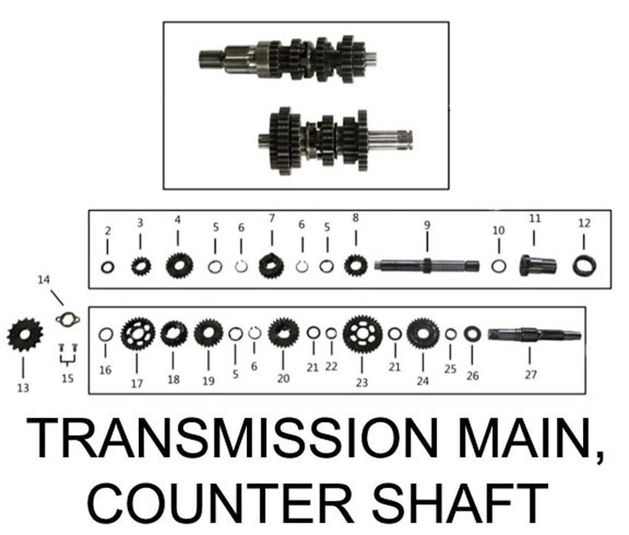 ENGINE TRANSMISSION MAIN SHAFT