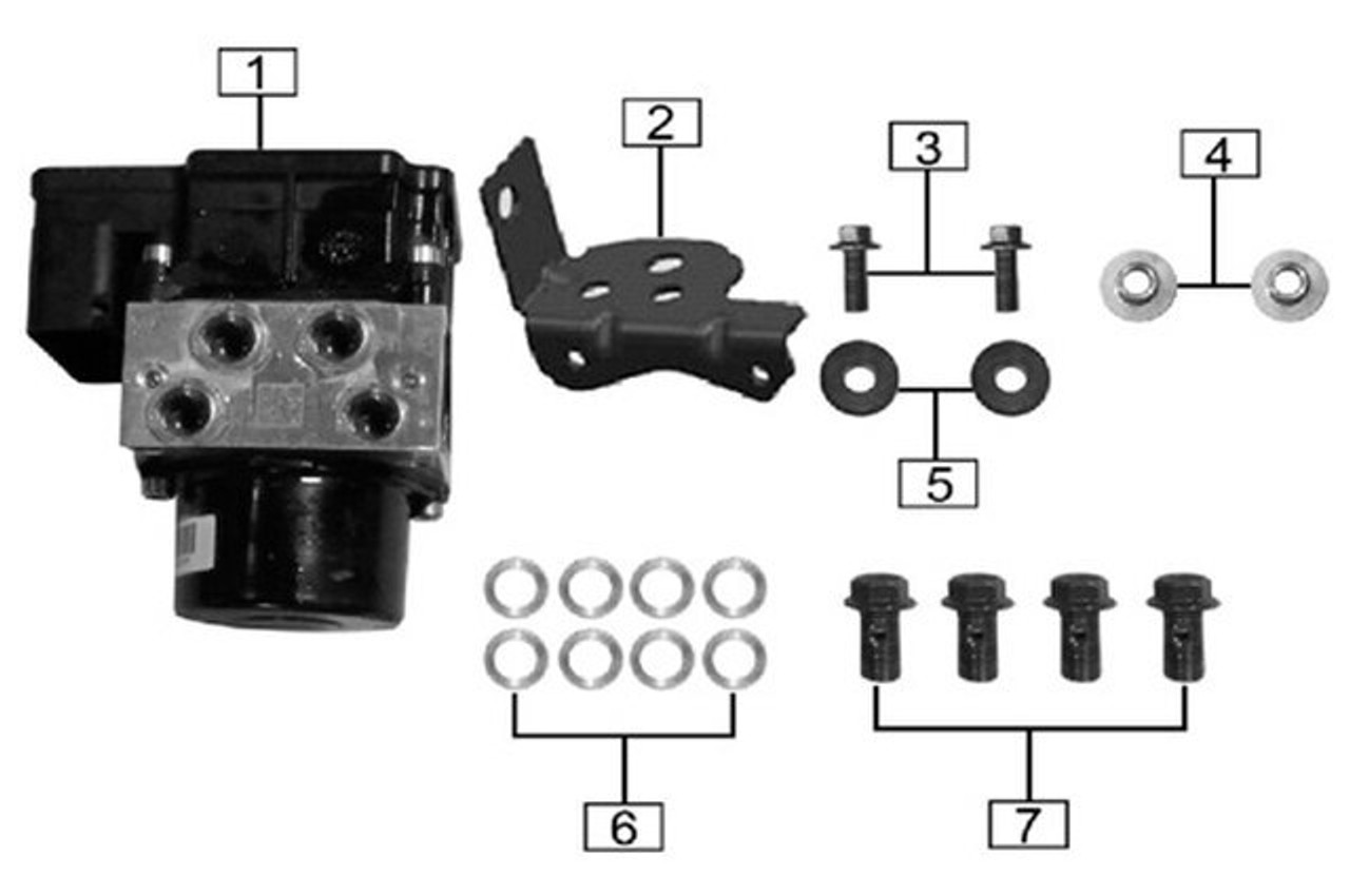 ABS CONTROL UNIT ASSEMBLY
