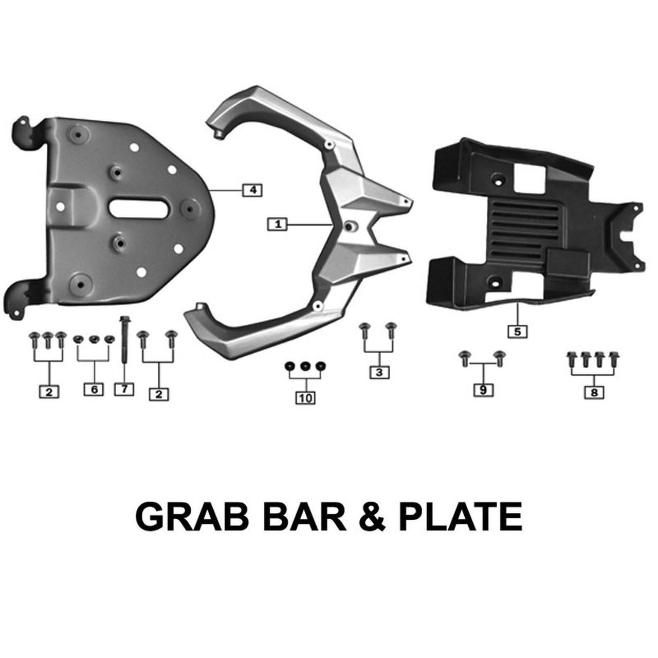 REAR GRAB BAR & PLATE