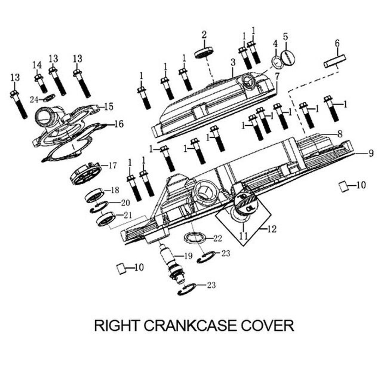 ENGINE CRANKCASE COVER, RIGHT