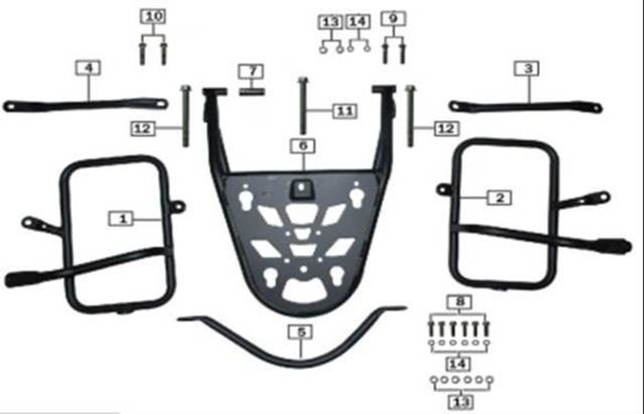 SIDE/REAR LUGGAGE BRACKETS