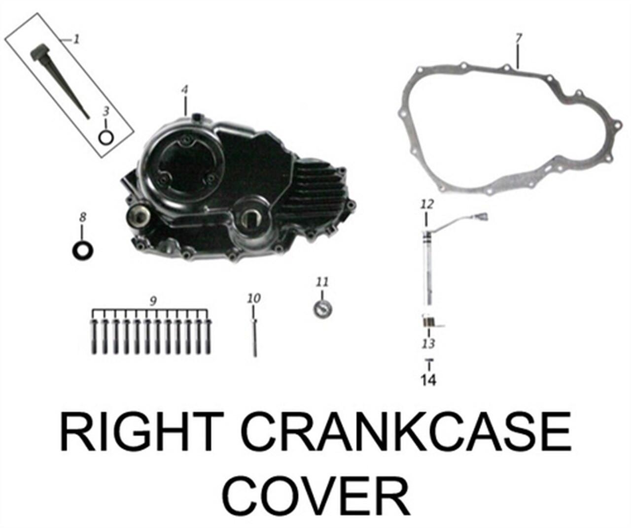 ENGINE CRANKCASE, INNER RIGHT