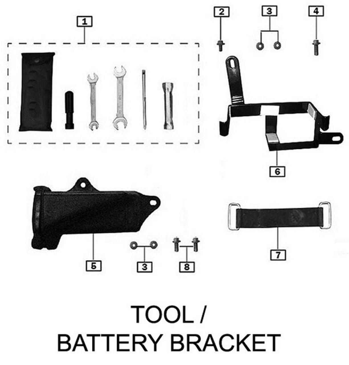 TOOL / BATTERY BRACKET
