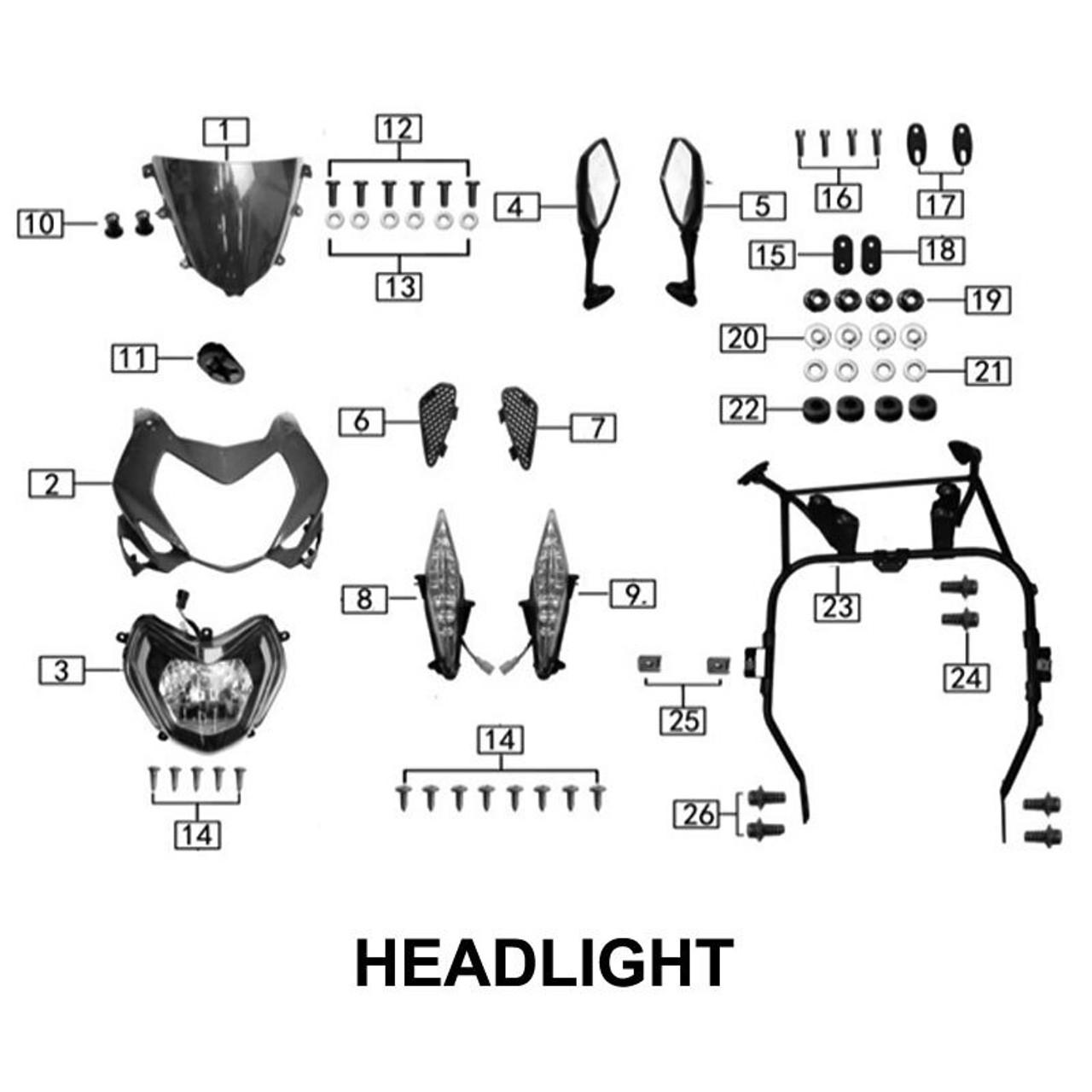 HEADLIGHT / UPPER FAIRING