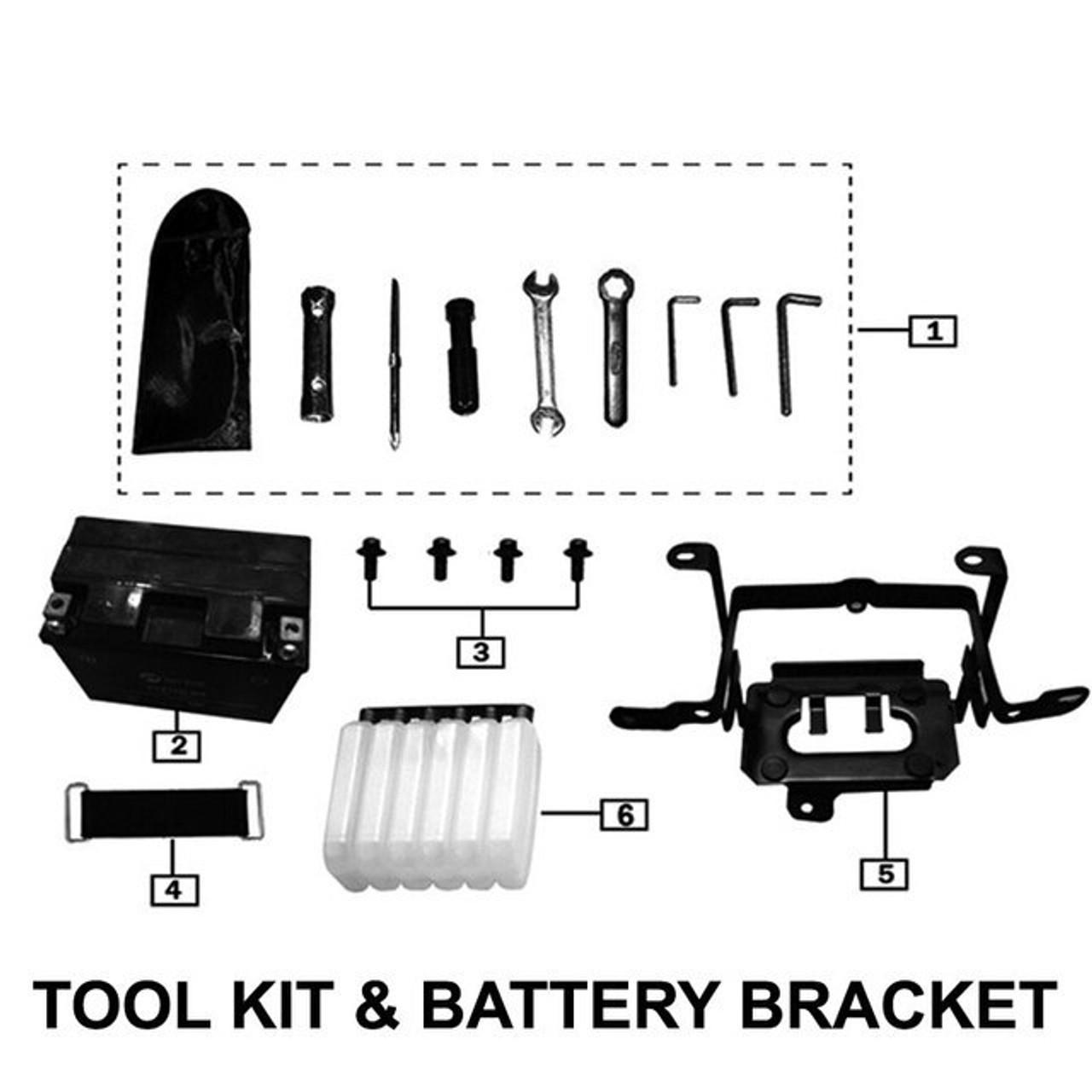 TOOLS & BATTERY BRACKET