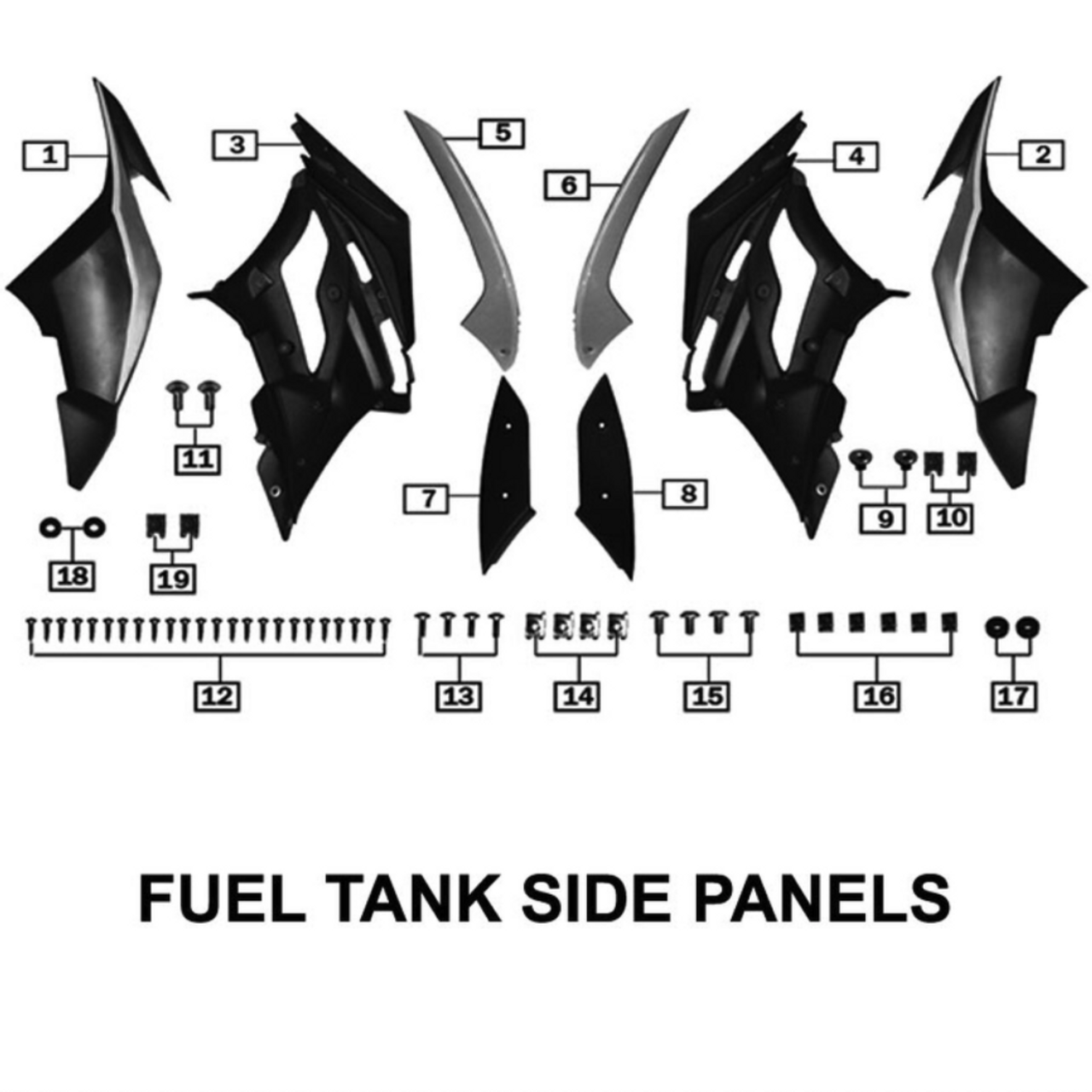 BODY PANELS, FUEL TANK