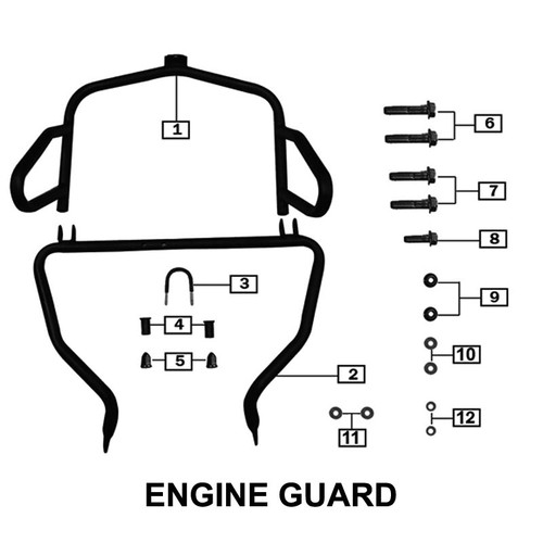 ENGINE GUARD FRONT TOP