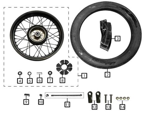 R.wheel inner tube 120/70-17