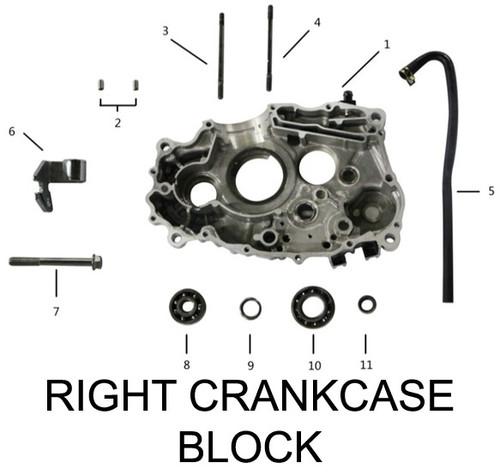 RIGHT CRANKCASE BLOCK