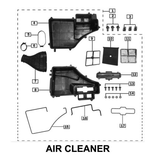 FILTERING NET,AIR CLEANER