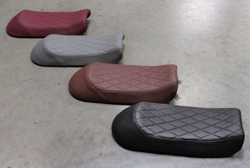 SG250 Seats. Red, Gray, Brown, Black.