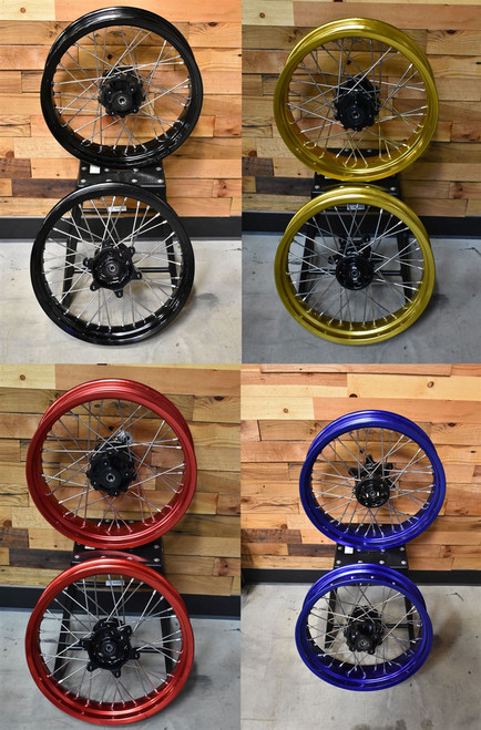 TT250 SUPERMOTO WHEEL SET, 17X3.5 &17X4.25, ASSEMBLED
