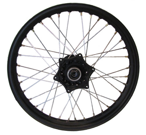 "19"" FRONT WHEEL ASSEMBLY, BLACK, FOR RX3"
