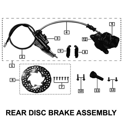HOSE REAR DISC BRAKE