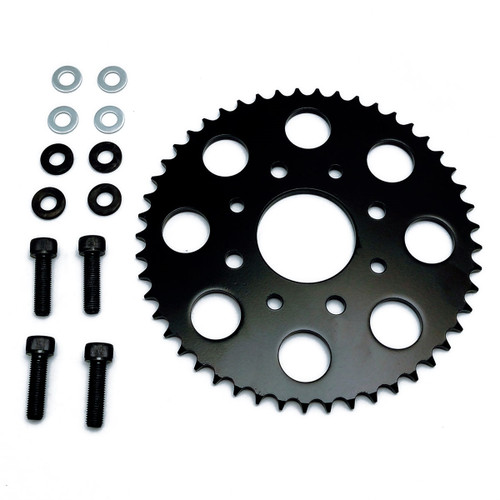 SPROCKET, REAR, TT250 49 TOOTH, with spacers