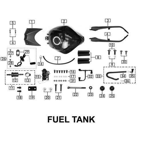 Fuel tank right plate